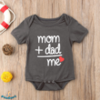 "Feliratos baba body ""Mom+Dad=Me"""