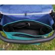 Babakocsi táska kék színben belülről