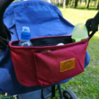 Babakocsi táska bordó színben