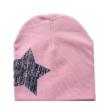 Babasapka rózsaszín nagy csillag mintával
