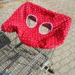 Bevásárlókocsi huzat piros csillagos