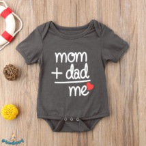"Baba body felirattal ""Mom+Dad=Me"""