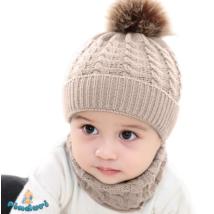 Babasapka babasál téli szett drapp színben