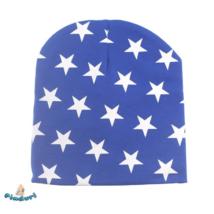 Babasapka kék csillag mintával