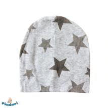 Babasapka szürke csillag mintával