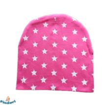 Babasapka rózsaszín apró csillagokkal