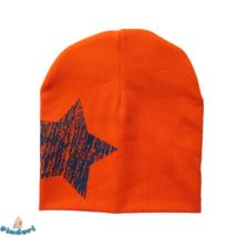 Babasapka narancssárga nagy csillag mintával