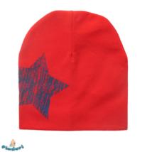 Babasapka piros nagy csillag mintával