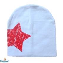 Babasapka fehér nagy csillag mintával