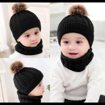 Babasapka babasál téli szett fekete színben