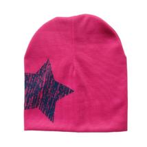 Babasapka pink nagy csillag mintával