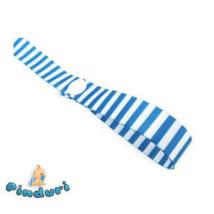Cumilánc patenttal kék-fehér csíkos