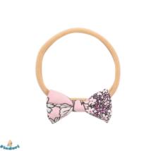 Baba hajpánt rózsaszín virágos masnis