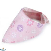 Nyálkendő rózsaszín-lila-fehér virágos mintával