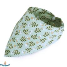 Nyálkendő zöld leveles mintával