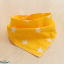 Nyálkendő sárga csillagos mintával