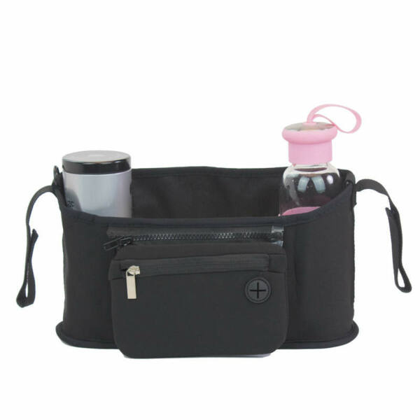 Babakocsi táska fekete színben