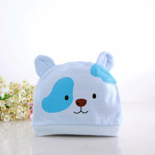 Újszülött sapka - Kék macis babasapka
