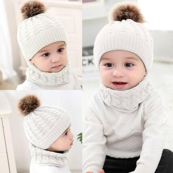 Babasapka babasál téli szett fehér színben