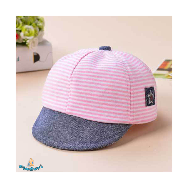 Baba baseball sapka rózsaszín csíkos