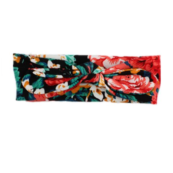 Baba hajpánt trópusi virágos mintával