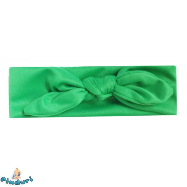 Baba hajpánt zöld színben