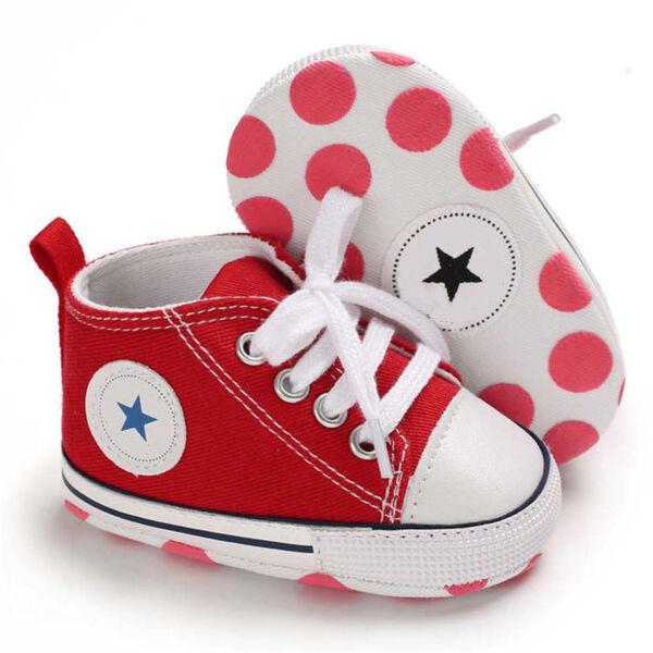 Baba tornacipő kocsicipő piros 0-6 hós