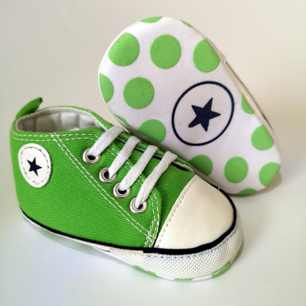 Tornacipő babacipő kocsicipő zöld 6-12 hós